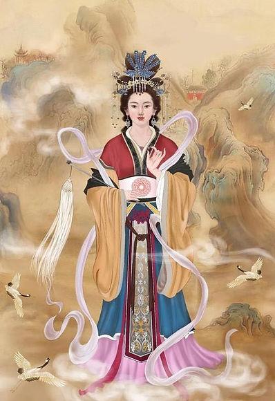 Figure of Bixia Yuanjun, the Deity of Mount Tai.