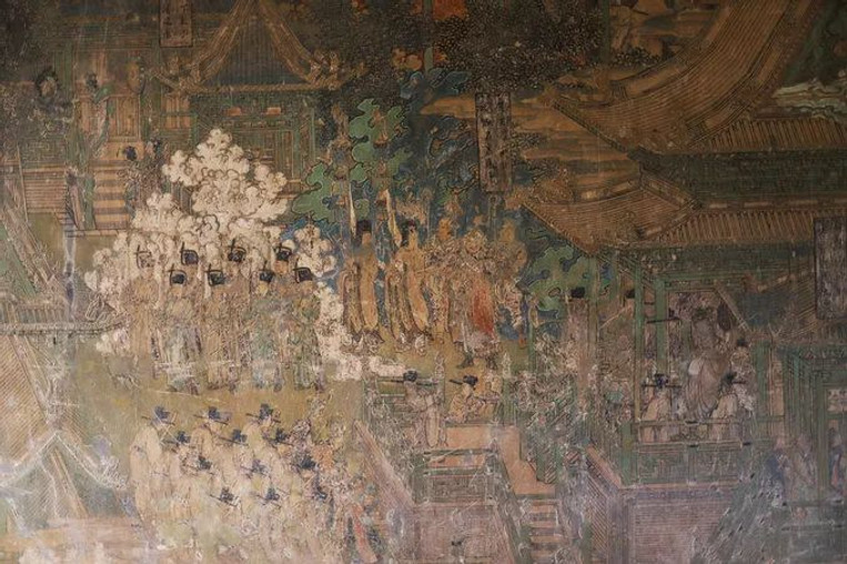 Frescos of Yanshan Temple, Painted in 1167 by Artist Wang Kui