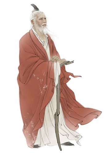 Portrait of Flame Emperor Yan Di the ancient Chinese Sovereign in Neolithic Period