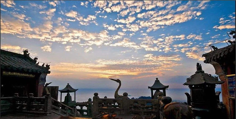 Ancient Buildings and Decorations on Summit of Mount Wudang