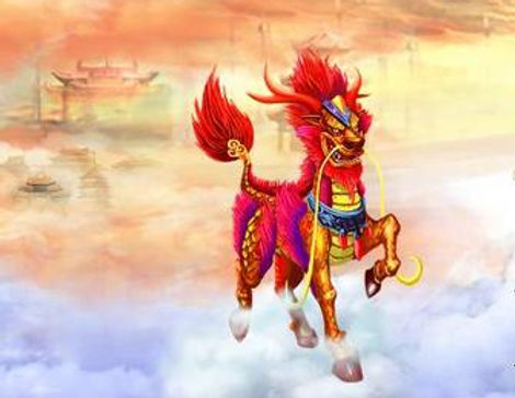 Mythical lucky animal Qi Lin