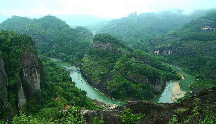 Mount Wuyi or Wuyi Mountain in Fujian and Jiangxi Provinces of China