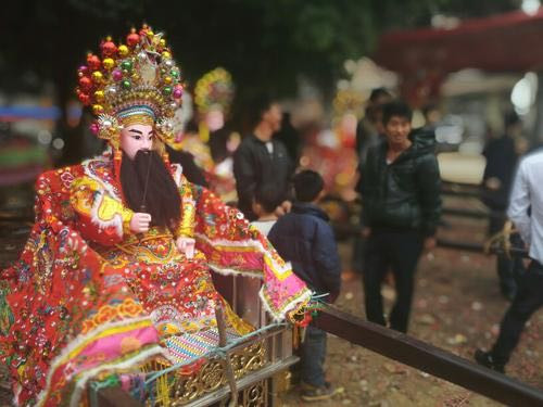 Pageant on Immortals (You Shen) in Chinese New Year the Spring Festival