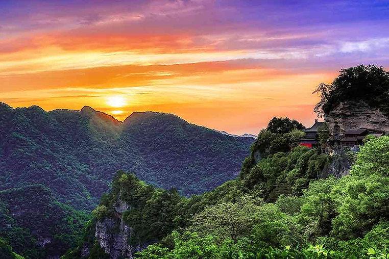 Sunrise of Wudang Mountains