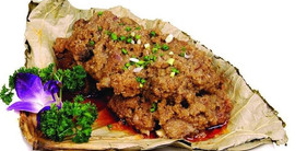 Meat Steamed With Lotus Leaf