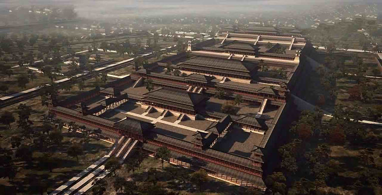 Restoration Map of Wei Yang Gong in Changan City, the Royal Palace of the Han Dynasty.