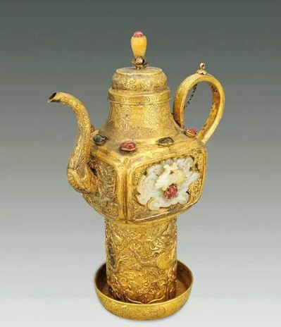 Gold Flagon (Jiu Zhu) of Wanli Emperor