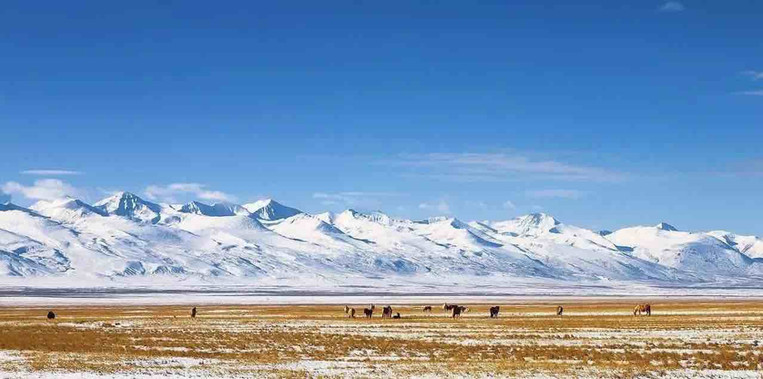 Part of Magnificent Tianshan Mountains in Xinjiang Province