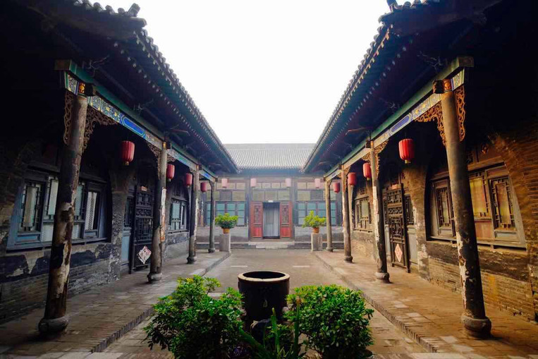 Courtyard of A Traditional Dwelling of The Ancient City of Pingyao