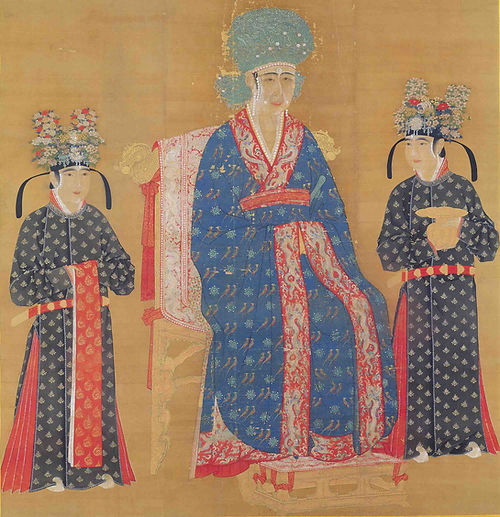 Portrait of Empress Cao (Or Empress Ci Sheng Guang Xian), by Court Artist of the Song Dynasty