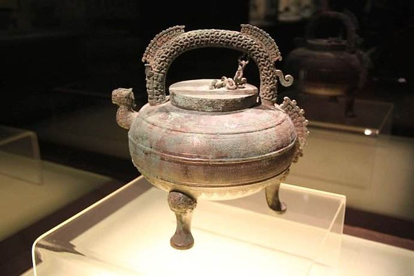 Unearthed Bronze Wine Container (He) of Fu Chai the King of Wu