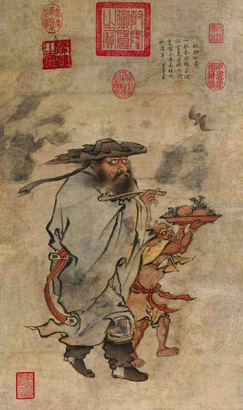 "Emperor Zhu Jianshen's Painting ""Sui Zhao Jia Zhao Tu"", To Pray for Blessings in New Year"