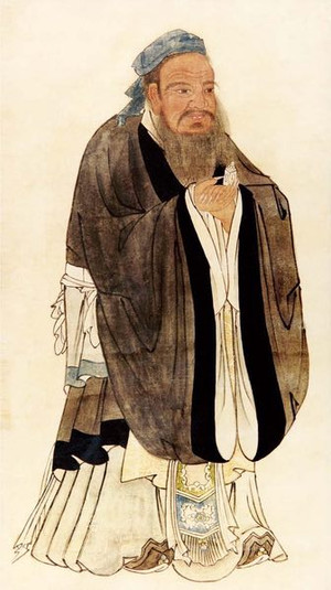 Portrait of Confucius, By Artist Qiu Ying (about 1497 — 1552).