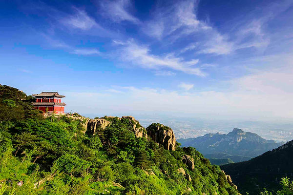Ancient Building on Mount Tai
