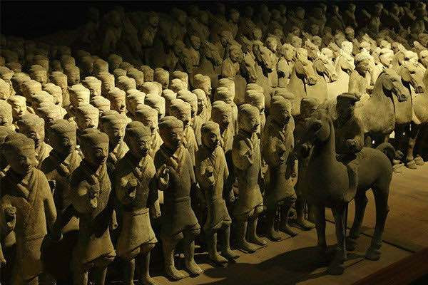Pottery Figurine Infantry, Unearthed from Liu Bang's Satellite Mausoleum