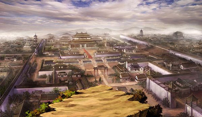 ​Reproduced Picture of Da Xing City of Sui Dynasty in History of China