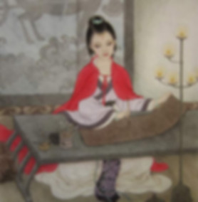 Beautiful queen Deng Sui in Han Dynasty