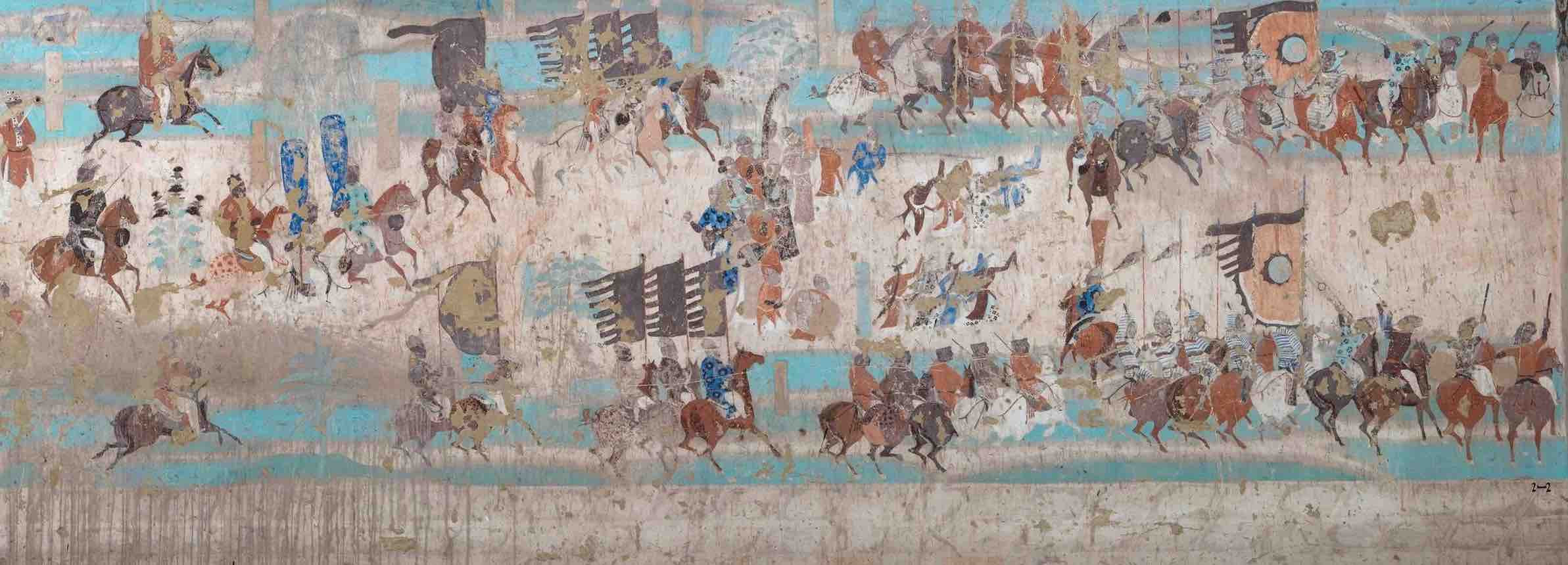 Military Marching of General Zhang Yichao, Mogao Cave 156.
