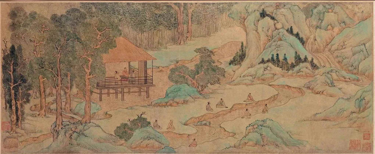 "Painting ""Lan Ting Xiu Xi"", A Famous Activity to Celebrate the Shangsi Festival, by Wen Huiming (1470 - 1559)"