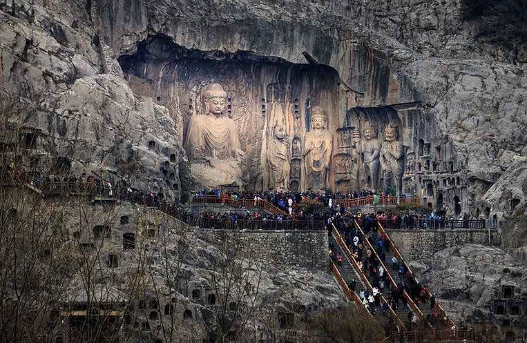 Stone Carving Statues of Longmen Grottoes