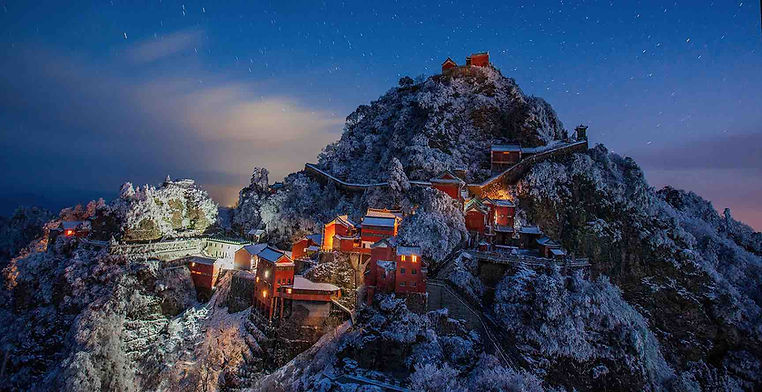 Building Complex of Stone-Walled Forbidden City or Zijin Cheng of Wudang Mountains