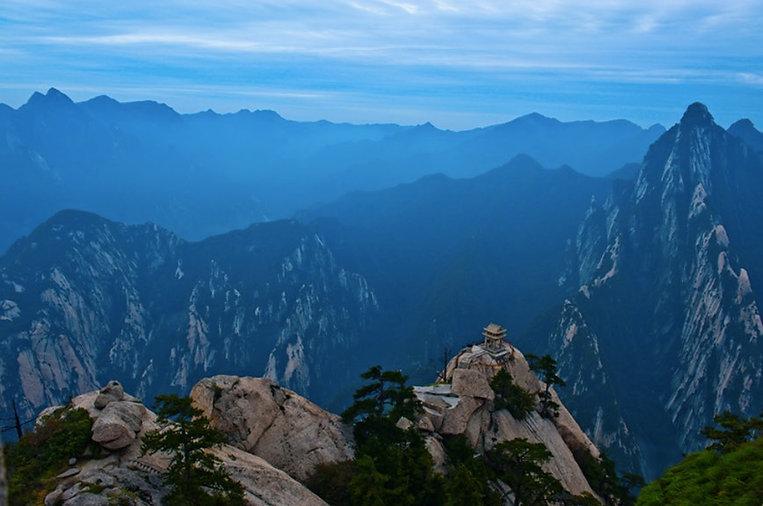 Chess Pavilion on a peak of Mount Hua