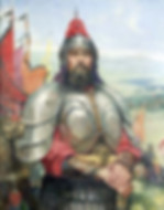 Famous Historical figure in history of China the King Fu Jian in Battlefield