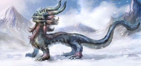 Mythical animal baby dragon Qiu Long