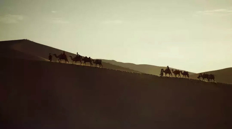 "Grand Desert Along the Silk Road (Photo from Documentary ""Hexi Corridor"")"