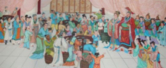 Emperor Liu Xiu and his beloved queen Yin Lihua meeting old friends and civilians