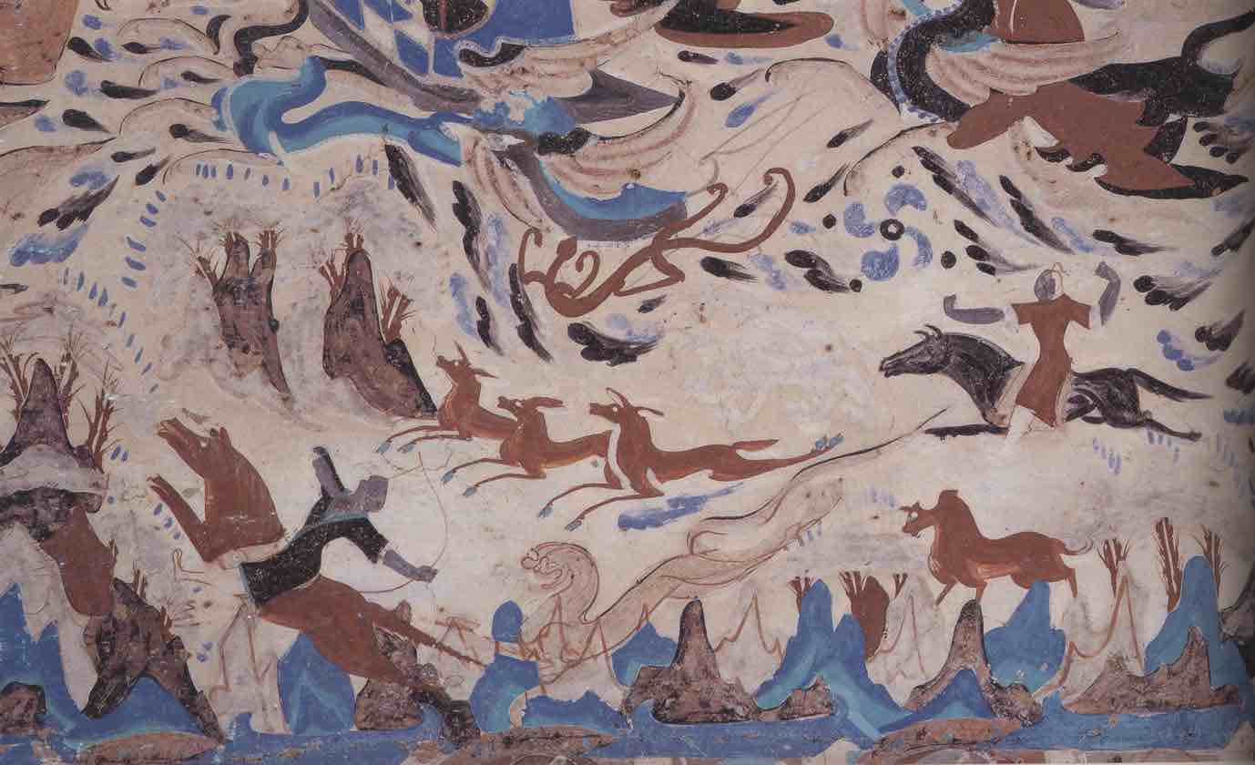 Hunting, Mogao Cave 249.