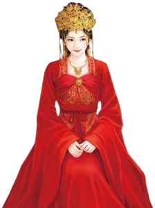 Wedding Gown of Traditional Chinese Wedding Ceremony