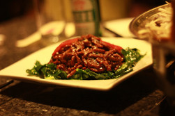 Barbecued Sauce Beef