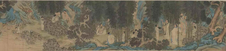 Seven Sages in the Bamboo Forest by Artist Li Shida of the Ming Dynasty (1368 — 1644)