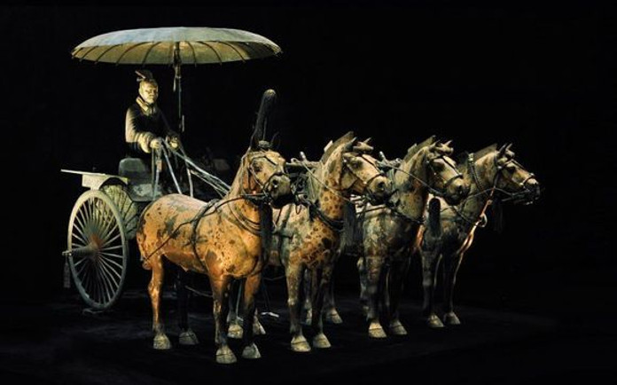 Bronze Carriage in Emperor Qin Shi Huang's Mausoleum