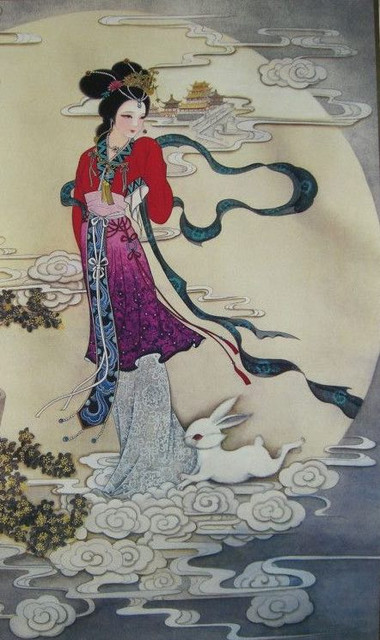 Chang E, Moon Rabbit and Moon Palace Guang Han Gong