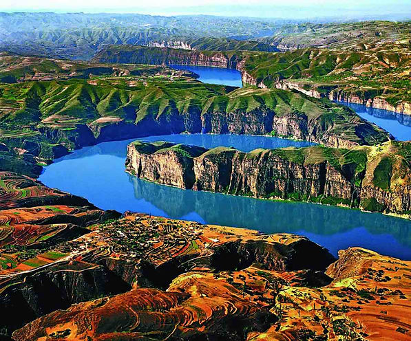 Laoniu Bay of Yellow River in Shanxi Province and Inner Mongolia