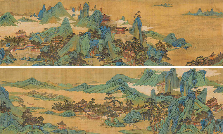 Penglai Island Painted by Artist Qiu Ying (about 1497 — 1552)