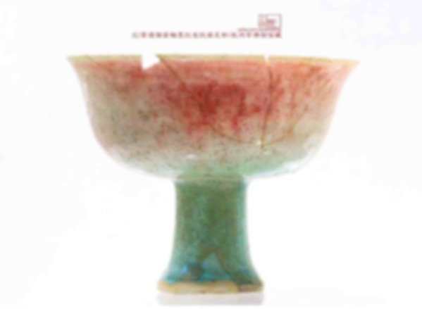 Unearthed Underglaze Red (You Li Hong) Cup of the Yuan Dynasty