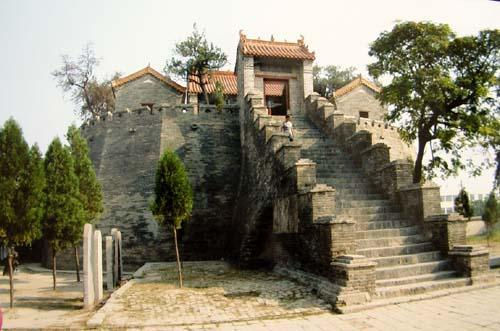 Ancient Temple (Lao Jun Tai) to Memorize Lao Zi in Luyi City of Henan Province (Hometown of Lao Zi), Built Around 742.