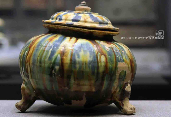 Unearthed Tri-coloured Glazed Censer of the Tang Dynasty — Jinzhong Museum