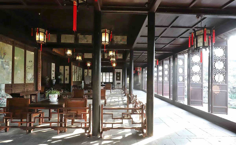Luxurious Nanmu Hall or Wufeng Xianguan in East Part of Lingering Garden