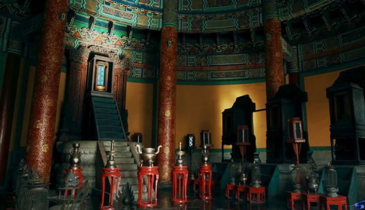 Memorial Tablet of Huangtian Shangdi or Haotian Shangdi on Main Hall of Temple of Heaven