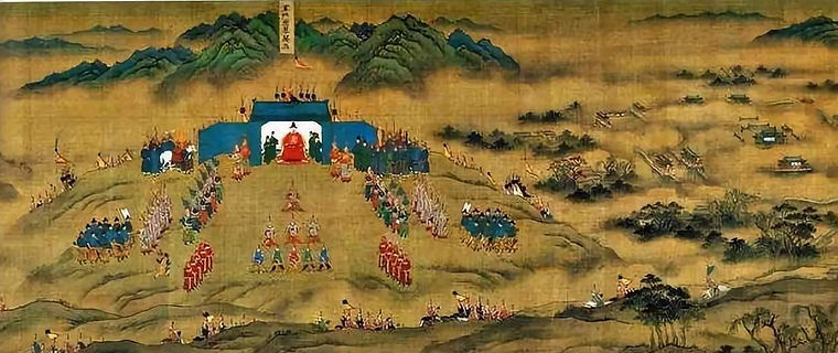 """Generals and Soldiers of the Late Ming Dynasty in the Painting """"Ping Fan De Sheng Tu"""""""