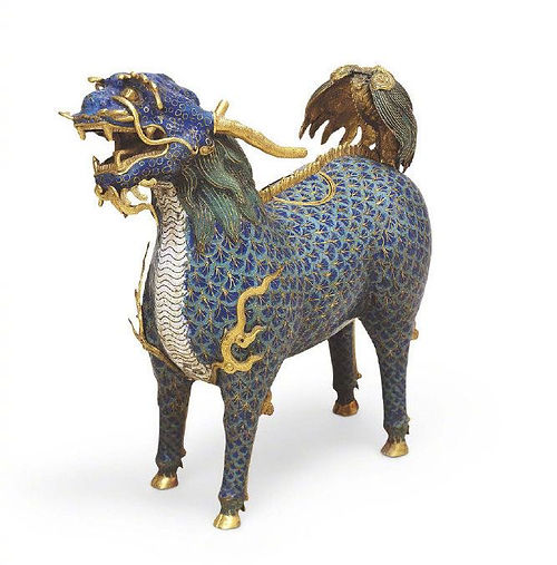 Qilin Shape Cloisonne Incense Burner of the Qing Dynasty (1636 — 1912) — Palace Museum