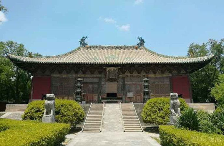 Front of the Yongle Palace (Built in 1247 — 1358) in Shanxi Province, An Important Representative Architecture of the Yuan Dynasty