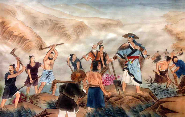 Yu the Great Leading People Defending the Great Flood