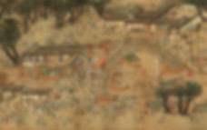 """Part of Painting """"Prosperous City Nanjing of the Ming Dynasty""""  (Nan Du Fan Hui Tu), By Artist Qiu Ying (1497 — 1552)"""