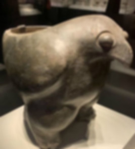 Eagle Shaped Pottery Tripod (Ding) of Yangshao Culture (Around 5000 BC — 3000 BC)