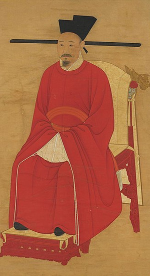 Portrait of Zhao Shen the Emperor Xiaozong of Song, by Court Artist